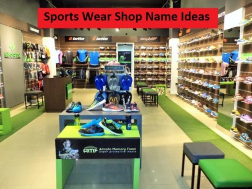 999+Best Sports Wear Store Names